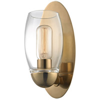 Hudson Valley Lighting Pamelia 1 Light Fluorescent Wall Sconce in Aged Brass 8841-AGB