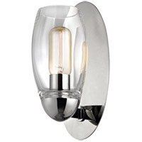 Hudson Valley Lighting Pamelia 1 Light Fluorescent Wall Sconce in Polished Nickel 8841-PN