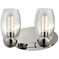 Pamelia 2 Light 12 inch Polished Nickel Wall Sconce Wall Light