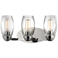 Hudson Valley Lighting Pamelia 3 Light Fluorescent Wall Sconce in Polished Nickel 8843-PN