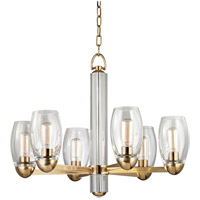 Hudson Valley Lighting Pamelia 6 Light Fluorescent Chandelier in Aged Brass 8846-AGB
