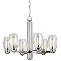 Hudson Valley Lighting Pamelia 6 Light Fluorescent Chandelier in Polished Nickel 8846-PN