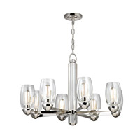 Hudson Valley Lighting Pamelia 8 Light Fluorescent Chandelier in Polished Nickel 8848-PN