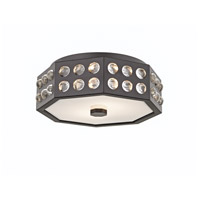Hansen 2 Light 12 inch Old Bronze Semi-Flush Ceiling Light