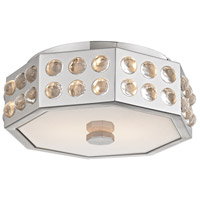 Hansen 2 Light 12 inch Polished Nickel Semi-Flush Ceiling Light