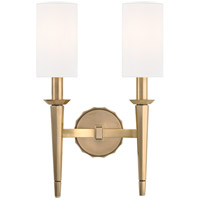 Tioga 2 Light 11 inch Aged Brass Wall Sconce Wall Light
