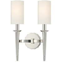 Tioga 2 Light 11 inch Polished Nickel Wall Sconce Wall Light