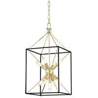 Hudson Valley 8912-AGB Glendale 9 Light 12 inch Aged Brass Pendant Ceiling Light