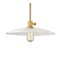 Hudson Valley Lighting Heirloom 1 Light Pendant in Aged Brass with Clear Glass Shade 9001-AGB-GL4