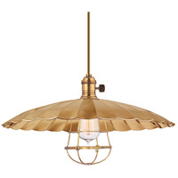 Heirloom 1 Light 17 inch Aged Brass Pendant Ceiling Light in ML3, Yes