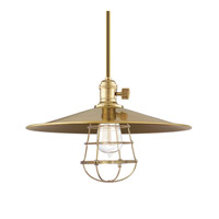 Heirloom 1 Light 14 inch Aged Brass Pendant Ceiling Light in MM1, Yes