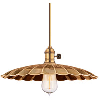 Heirloom 1 Light 14 inch Aged Brass Pendant Ceiling Light in MM3, No