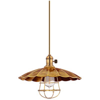 Hudson Valley Lighting Heirloom 1 Light Pendant in Aged Brass with Wire Bulb Guard 9001-AGB-MS3-WG