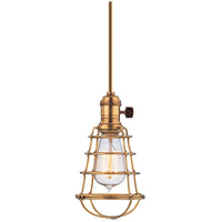 Hudson Valley Lighting Heirloom 1 Light Pendant in Aged Brass 9001-AGB-WG
