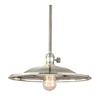 Heirloom 1 Light 14 inch Historic Nickel Pendant Ceiling Light in MM2, No