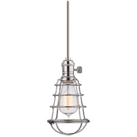 Hudson Valley Lighting Heirloom 1 Light Pendant in Polished Nickel 9001-PN-MS1-WG