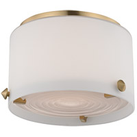 Blackwell LED 6 inch Satin Brass Flush Mount Ceiling Light