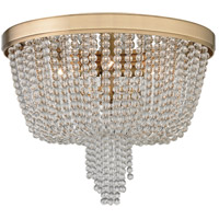 Royalton 4 Light 18 inch Aged Brass Flush Mount Ceiling Light