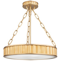 Middlebury 3 Light 16 inch Aged Brass Semi Flush Ceiling Light