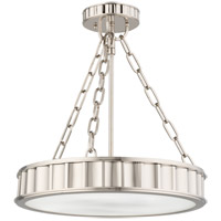 Hudson Valley 901-PN Middlebury 3 Light 16 inch Polished Nickel Semi Flush Ceiling Light