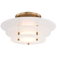 Gatsby LED 16 inch Aged Brass Flush Mount Ceiling Light, Spanish Alabaster