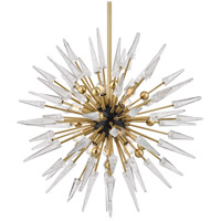 Sparta 12 Light 32 inch Aged Brass Chandelier Ceiling Light