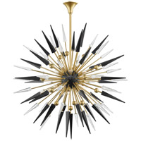 Hudson Valley 9047-AGB Sparta 18 Light 48 inch Aged Brass Chandelier Ceiling Light