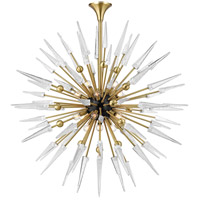 Sparta 18 Light 48 inch Aged Brass Chandelier Ceiling Light