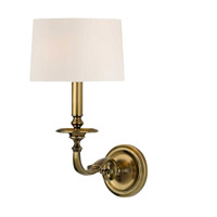 Hudson Valley Lighting Whitmire 1 Light Wall Sconce in Aged Brass 910-AGB