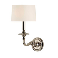 Hudson Valley Lighting Whitmire 1 Light Wall Sconce in Polished Nickel 910-PN