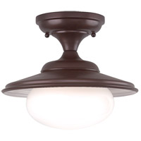 Independence 1 Light 11 inch Old Bronze Semi Flush Ceiling Light