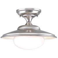 Independence 1 Light 11 inch Satin Nickel Semi Flush Ceiling Light
