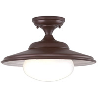 Independence 1 Light 16 inch Old Bronze Semi Flush Ceiling Light