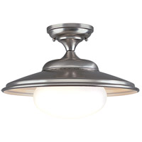 Independence 1 Light 16 inch Satin Nickel Semi Flush Ceiling Light