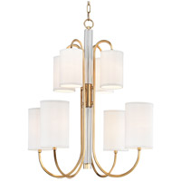 Hudson Valley 9108-AGB Junius 8 Light 29 inch Aged Brass Chandelier Ceiling Light