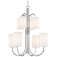 Junius 8 Light 29 inch Polished Nickel Chandelier Ceiling Light