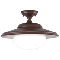 Independence 1 Light 19 inch Old Bronze Semi Flush Ceiling Light