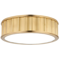 Hudson Valley 911-AGB Middlebury 2 Light 13 inch Aged Brass Flush Mount Ceiling Light