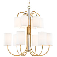 Hudson Valley 9112-AGB Junius 12 Light 35 inch Aged Brass Chandelier Ceiling Light