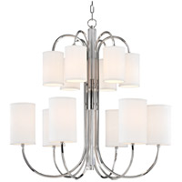 Junius 12 Light 35 inch Polished Nickel Chandelier Ceiling Light