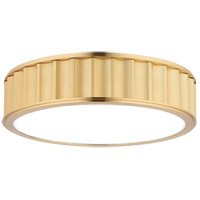 Middlebury 3 Light 16 inch Aged Brass Flush Mount Ceiling Light