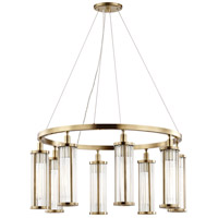 Hudson Valley 9130-AGB Marley 8 Light 30 inch Aged Brass Pendant Ceiling Light