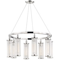Marley 8 Light 30 inch Polished Nickel Pendant Ceiling Light