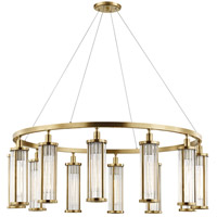 Marley 12 Light 43 inch Aged Brass Pendant Ceiling Light