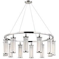 Hudson Valley 9142-PN Marley 12 Light 43 inch Polished Nickel Pendant Ceiling Light