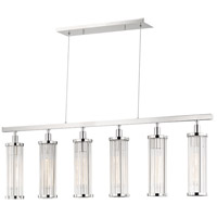 Marley 6 Light 47 inch Polished Nickel Island Light Ceiling Light