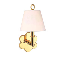 Hudson Valley Lighting Pomona 1 Light Wall Sconce in Polished Brass 921-PB photo thumbnail