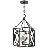 Hudson Valley 9214-AIPN Octavio 4 Light 12 inch Aged Iron and Polished Nickel Pendant Ceiling Light
