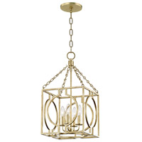 Hudson Valley 9214-GL Octavio 4 Light 12 inch Gold Leaf Pendant Ceiling Light
