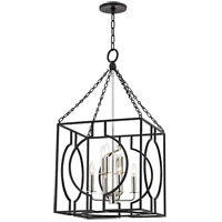 Octavio 8 Light 18 inch Aged Iron and Polished Nickel Pendant Ceiling Light